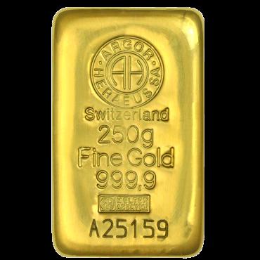 Lingot 250g d'or