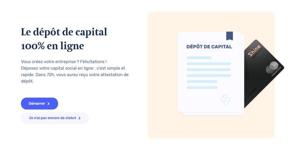 Le dépot de capital en ligne, c'est quoi ?